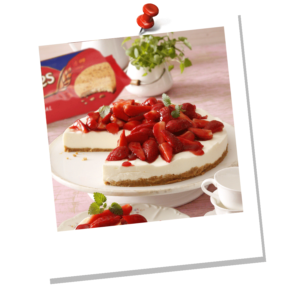 MCVITIE'S YOGURT AND STRAWBERRY PIE