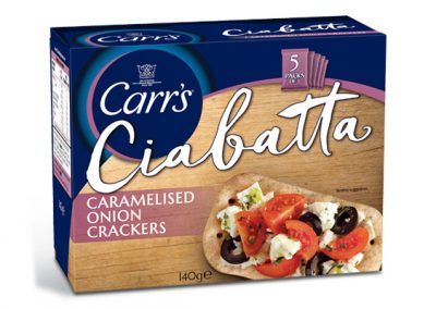 Carr's Ciabatta Caramelised Onion 5x28g