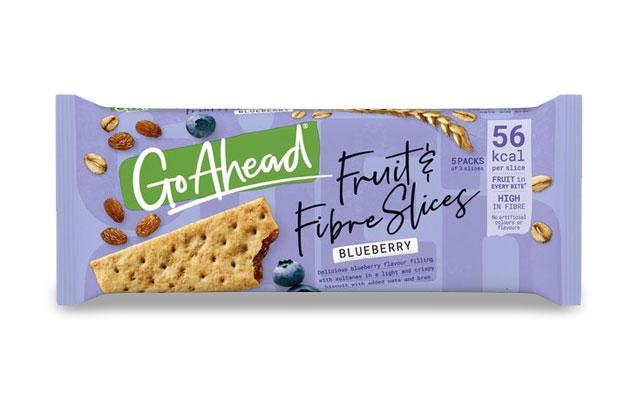 GoAhead Fruit&Fibre Slices Blueberry 261,6g