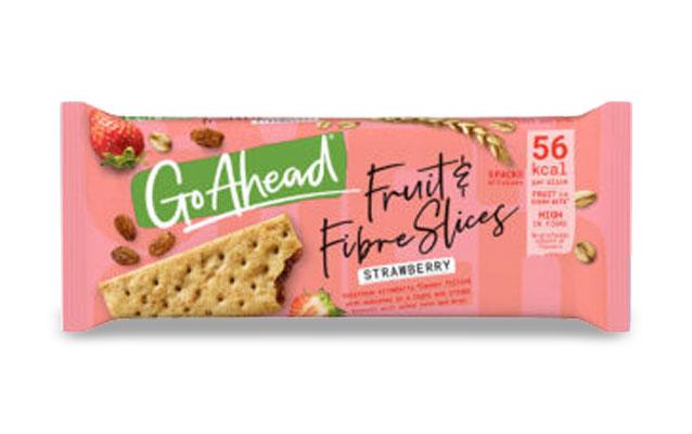 GoAhead Fruit&Fibre Slices Strawberry 261,6g