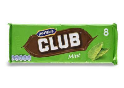 McVitie's Club Mint 8×23,5g