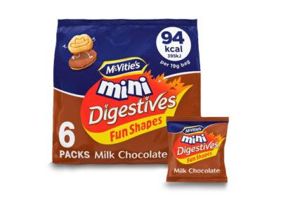 McVitie's Digestive Milk Chocolate 6x19g